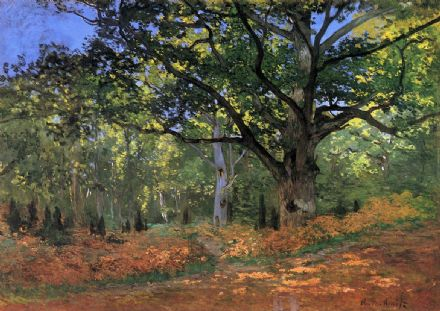 Monet, Claude: Bodmer Oak, Fontainbleau Forest. Fine Art Print/Poster. Sizes: A4/A3/A2/A1 (00749)